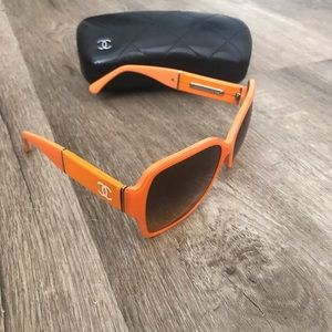 Chanel Orange Sunglasses